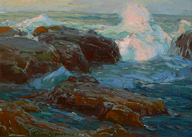 Edgar Payne - Sea and Rocks